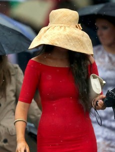In pictures: It was lashing at Ladies Day in Ballybrit