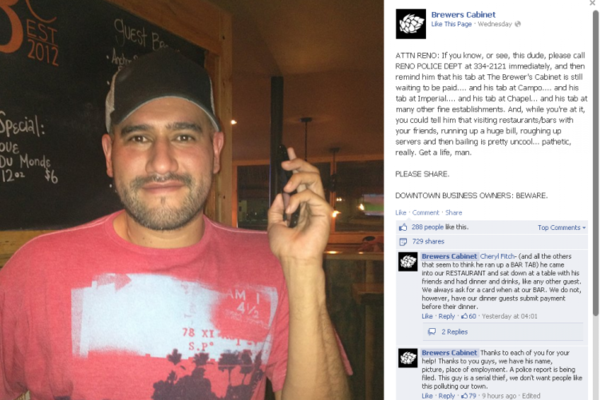 Pub uses Facebook to shame drinker who didn't pay · The