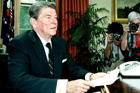 U.S. President Ronald Reagan in 1986