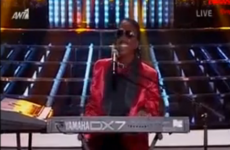 This woman blacked up as Stevie Wonder in a TV talent show