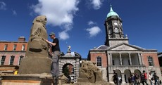 Pictures: Sand sculpting trio's giant monuments in Dublin Castle