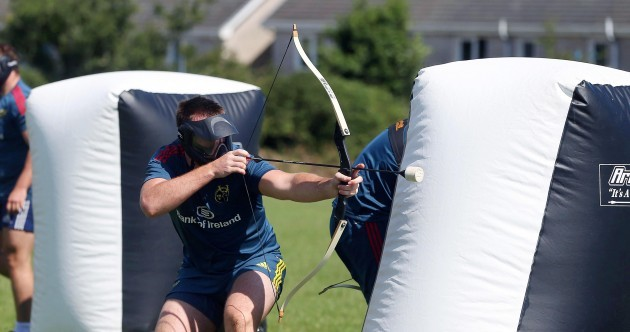 In pics: Munster players work on their archery skills at open training session