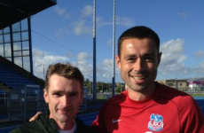 Tony Browne and Damien Delaney show their support for Waterford United