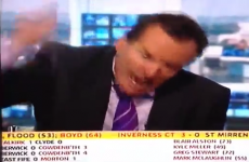 Jeff Stelling threatens to thrash Sky Sports vidiprinter with a hammer