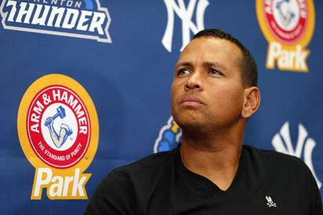 Alex Rodriguez answers questions over alleged doping.