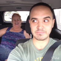 Older woman gets her backseat groove on to Blurred Lines