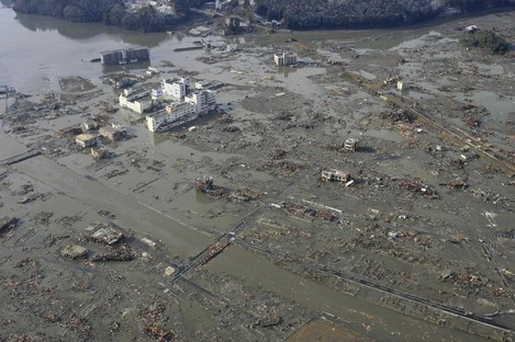 The Japanese port town of Minamisanriku, situated 55 miles from the epicentre of yesterday's earthquake, where almost 10,000 people are still unaccounted for.