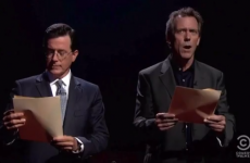 WATCH: Stephen Colbert and Hugh Laurie read dirty words together