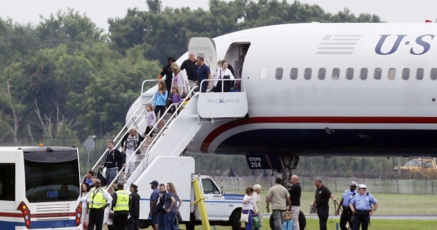 Pics: 'Unfounded threat' forces flight from Shannon to land in Philadelphia