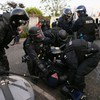 Paint bombs, bottles and a sword: PSNI officers attacked in Belfast