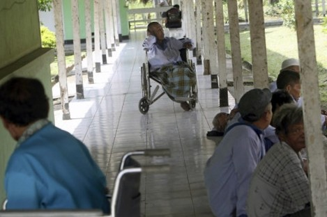 A leprosy hospital in Indonesia