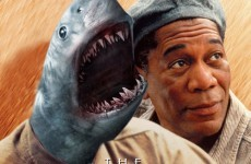 Famous movie posters... with sharks added to them