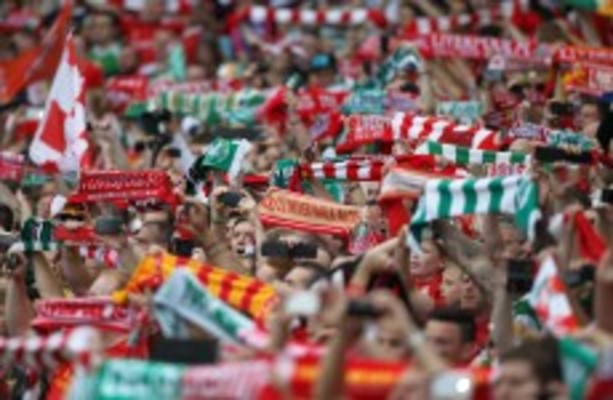 VIDEO: Liverpool and Celtic fans singing 'You'll Never Walk