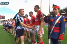Dublin and Cork meet for GAA's first official pre-match handshake