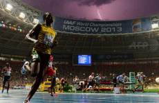Bolt + lightning = the coolest picture of the decade
