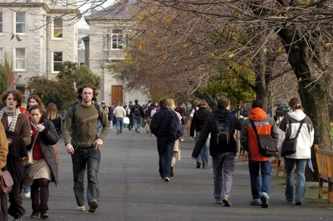 Students at Trinity College in Dublin.