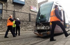 Luas and car involved in collision