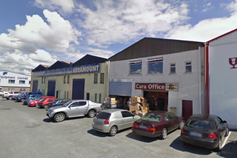The Riverside Commercial Estate in Galway, the site of Saturday night's major fire.