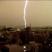 VIDEO: Lightning strikes a moving train in Japan