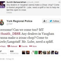 Police reply to man looking for a spliff on Twitter