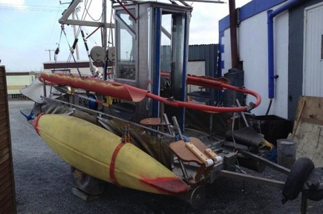 A 'boat' photographed on the south coast recently