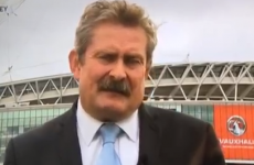 Watch Sky Sports News presenter Nick Collins fall over live on air