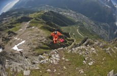 Wingsuit flier dies in Swiss Alps after jumping from 10,000 feet