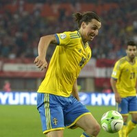 Look from behind the sofa as Zlatan bags hat-trick in Ireland warm-up