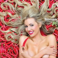 Rosanna Davison goes naked in a bath of chilli peppers