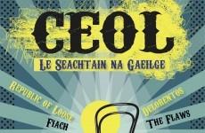 Irish bands gigging as Gaeilge
