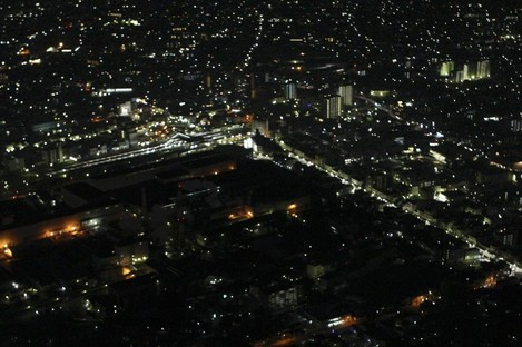 The Tokyo district of Shizuoka last night, when a scheduled power outage was underway. The area has been hit by an inland aftershock this afternoon.