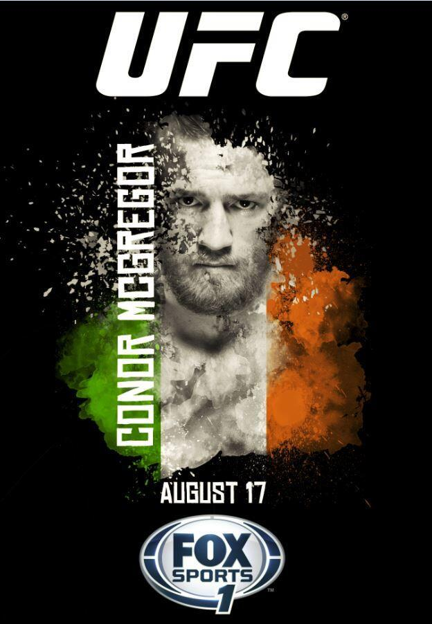 The official poster for McGregor's fight.