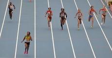 Snapshot: The women's 4x100m relay final wasn't exactly a photo finish