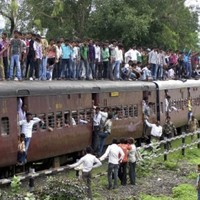Indian train ploughs into a crowd of pilgrims, killing 35