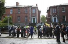 Gardaí on scene at Egyptian Embassy protest