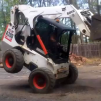 Smug construction worker learns very mucky lesson