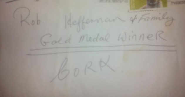 You don't need Rob Heffernan's address to send him a congratulatory letter