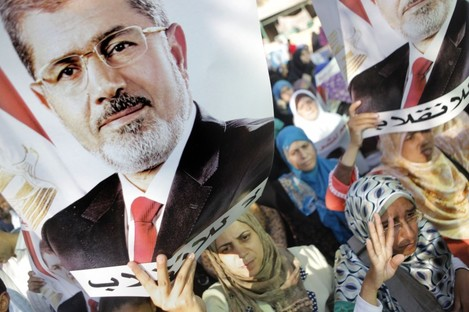 Supporters of ousted president Mohammed Morsi march in Cairo