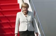 Man wearing only underpants parties on Angela Merkel's plane