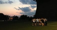 Snapshot: Hoboken hurlers prepare for final as darkness falls on New York City