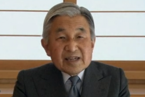 """In a rare TV appearance, Japan's Emperor Akihito admitted he was """"deeply worried"""" by the crisis facing his country."""