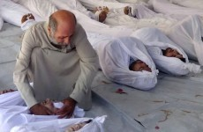 Syrian forces bomb area of alleged chemical attack