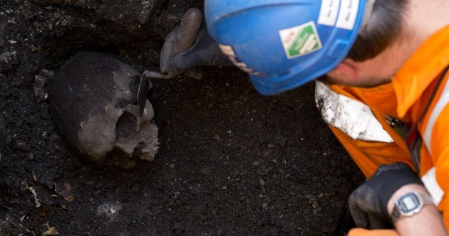 Ancient skeletons and medieval ice skates... all in a day's work for the Irish 'tunnel men' in London