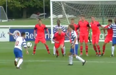 You just don't see enough free kicks like this