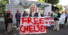 PICS: Egyptian protesters join 'Free Manning' protest at US embassy in Dublin