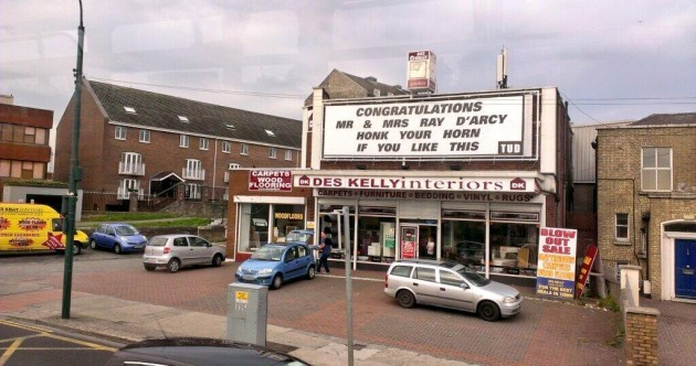 Ray D'Arcy's wedding has its own billboard... AND a message from King Joffrey