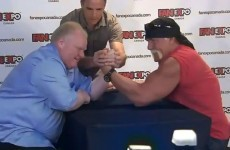 Mayor of Toronto beats Hulk Hogan at arm wrestling