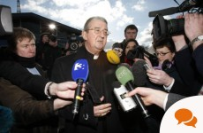 Just who were Diarmuid Martin's comments about child protection aimed at?