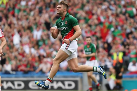 Aidan O'Shea celebrates scoring his only point of the game.