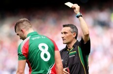 Mayo's O'Shea aware of yellow card risk against Tyrone